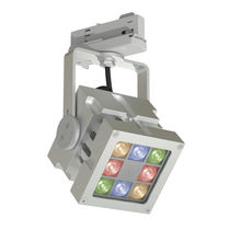 Iluminación sobre riel LED RGB / cuadrada / de aluminio / profesional