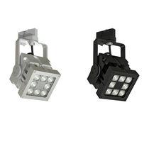 Iluminación sobre riel LED / cuadrada / de metal / profesional