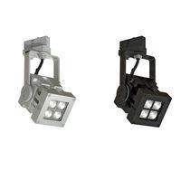 Iluminación sobre riel LED / cuadrada / de aluminio / profesional