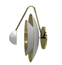 Aplique moderno / de aluminio / de latón / LED