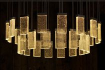Lámpara araña moderna / de vidrio / de aluminio / LED