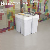 Cubo de basura público / de plástico / moderno / de reciclaje