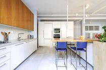 Cocina moderna / de melamina / de piedra / de madera