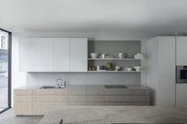 Cocina moderna / de madera / de cuarzo