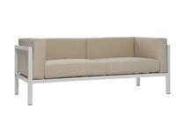 Sofá moderno / de jardín / de aluminio / de tejido