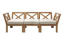 Sofá modular / moderno / de jardín / de teca