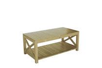 Mesa de centro moderna / de teca / rectangular / de jardín