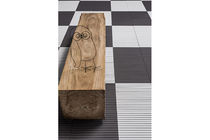 Banco de jardín / de diseño minimalista / de madera