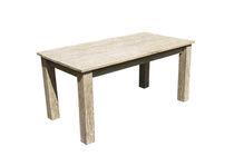 Mesa de comedor clásica / de teca / rectangular / de jardín