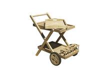Mesa carrito de jardín / de madera / para uso residencial