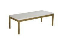 Mesa de centro moderna / de teca / de resina trenzada / rectangular