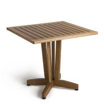 Mesa moderna / de madera / cuadrada / de exterior