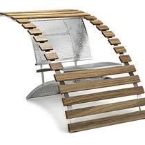 Silla de diseño original / de madera curvada / de metacrilato / de acero inoxidable
