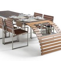 Mesa de comedor / moderna / de mármol / de iroko