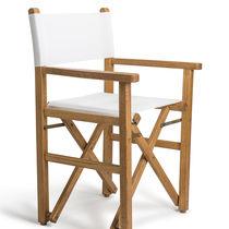 Silla moderna / de Batyline® / de malla de poliéster / de madera