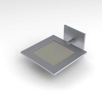 Aplique moderno / de aluminio / OLED / cuadrado