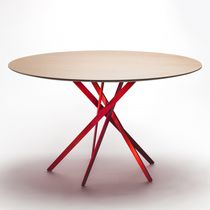 Mesa de comedor moderna / de roble / de MDF / de chapa de madera