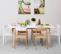 Mesa de comedor / moderna / de roble / de MDF