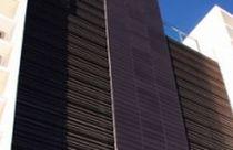 Rejilla de ventilación de aluminio / de acero / lineal / para fachada