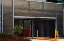 Rejilla de ventilación de aluminio / lineal / para fachada