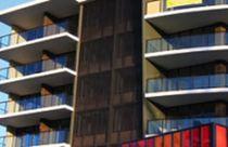 Revestimiento de fachada de aluminio / texturado / de panel