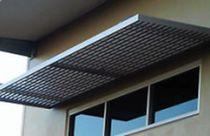 Marquesina para puertas y ventanas / de aluminio