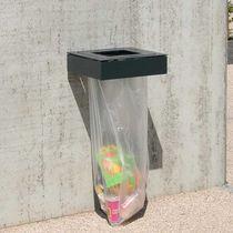 Cubo de basura público / de pared / de chapa de acero / antiterrorismo