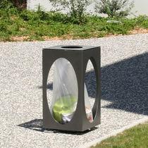 Cubo de basura público / de acero lacado / de acero termolacado / de acero