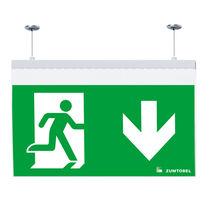 Iluminación de emergencia empotrable de techo / suspendida / rectangular / LED