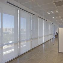 Tela para protección solar / para estor enrollable / de color liso / de fibra de vidrio