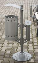 Cubo de basura público / de acero inoxidable
