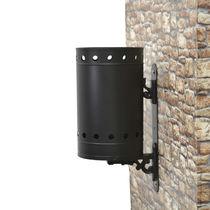 Cubo de basura público / de pared / de acero galvanizado / clásico