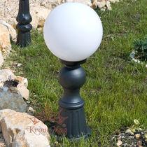 Bolardo de iluminación urbano / clásico / de hierro forjado / LED