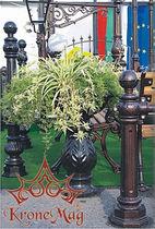 Jardinera de metal / clásica / para espacio público
