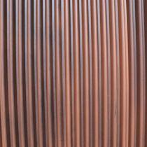 Revestimiento de fachada de acero / acanalado / de panel