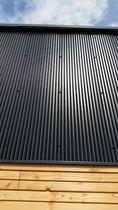 Revestimiento de fachada de acero / ranurado / de panel