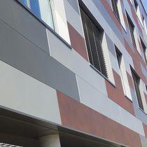 Revestimiento de fachada de acero / liso / de tipo cassette
