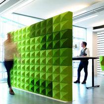 Panel acústico para revestimiento interior / de lana / para edificio público