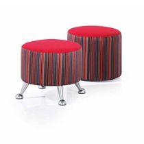 Taburete moderno / de tejido / tapizado / rojo