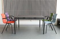 Mesa moderna / de material laminado / de aluminio / rectangular