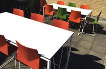 Silla de visita moderna / tapizada / de material laminado / de exterior