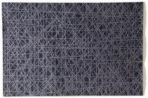 Alfombra moderna / de rayas / de lana / rectangular