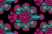 Alfombra moderna / de flores / de lana / rectangular
