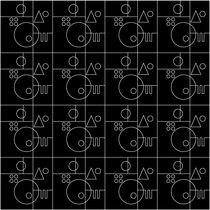 Alfombra moderna / con motivos / de lana / rectangular