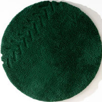 Alfombra moderna / color liso / de lana / redonda