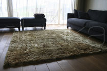 Alfombra moderna / color liso / de lana / rectangular