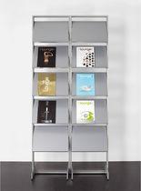 Expositor para folletos / de metal / para oficina