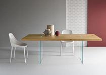 Mesa moderna / de roble / de vidrio / rectangular