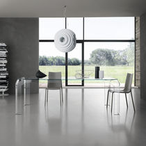 Mesa rectangular / de interior / moderna / de cristal