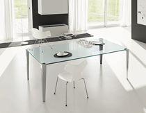 Mesa moderna / de cristal / rectangular / de interior